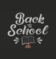 hand drawn lettering - back to school elegant vector image