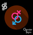 Male and female gender signs vector image
