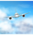plane in the clouds vector image