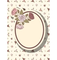 Retro frame with abstract flowers event design vector image