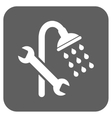 Shower Plumbing Flat Squared Icon vector image