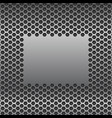 metal perforated background with plain brushed vector image