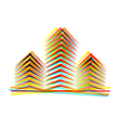 abstract icon on white background Eps10 vector image vector image