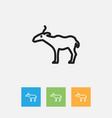 Of zoo symbol on gazelle vector image