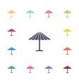 parasol mask flat icons set vector image