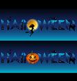 Stylized halloween title vector image