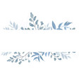 floral card design with elegant botanical border vector image