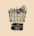 healthy food logo farm eco products vector image