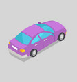 purple car window isolated vector image