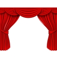 red silk curtains vector image