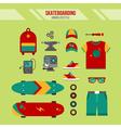 Skateboarding Kit Urban Lifestyle Set vector image