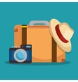 summer holidays travel icon vector image