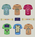 Tshirts with Indian ornaments vector image