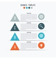 Arrow infographic banner vector image