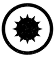 Bacterium Rounded Grainy Icon vector image