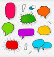 set of comic speech bubbles and elements with vector image