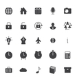 Set icons for business communication web vector image vector image