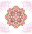 Seamless pattern of mandala circular ornament vector image