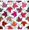 Autumn seamless leaf pattern 7 vector image