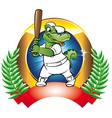 Baseball badge vector image