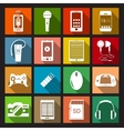 Gadget Icons Flat vector image