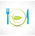 healthy life icon vector image