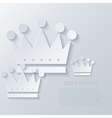 modern crown light background vector image