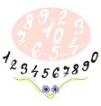 Numerals set vector image