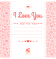 romantic design labels icons ornament of hearts vector image