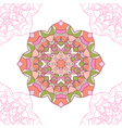 Seamless pattern of mandala circular ornament vector image