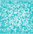 turquoise abstract triangles background vector image