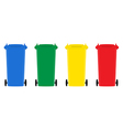 Set of trash bins flat design vector image