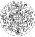 Christmas coloring mandala vector image vector image