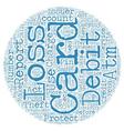 Debit ATM Cards text background wordcloud concept vector image