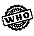 who rubber stamp vector image