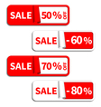 Set of Sale Sticker or Label vector image