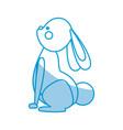 cute rabbit easter happy festive decoration vector image