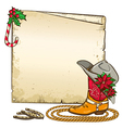 Christmas paper background with horseshoes and vector image vector image