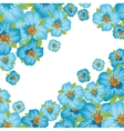 Background or card with pretty stylized flowers vector image