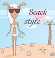 tanned sheep vector image