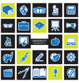 Education icons set vector image vector image