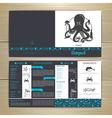 Seafood cafe menu design with octopus vector image