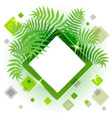 Frame with leaves for your message vector image