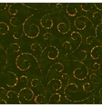 Gold floral seamless pattern vector image