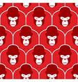 Gorilla seamless pattern Flock of Angry red big vector image