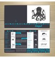 Seafood cafe menu design with octopus vector image