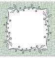 Square Floral Frame Background vector image