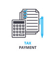 tax payment concept outline icon linear sign vector image