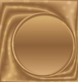 gold picture frame bottom of the circle vector image