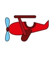 airplane cute toy icon vector image